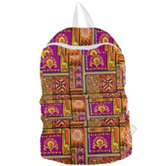 Traditional Africa Border Wallpaper Pattern Colored 3 Foldable Lightweight Backpack by EDDArt