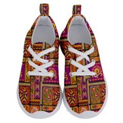 Traditional Africa Border Wallpaper Pattern Colored 3 Running Shoes