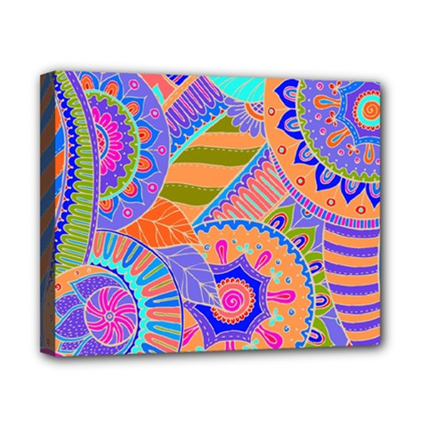 Pop Art Paisley Flowers Ornaments Multicolored 3 Canvas 10  X 8  by EDDArt