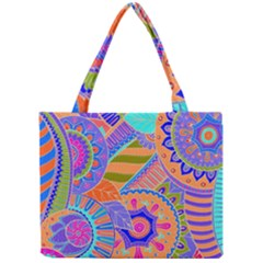 Pop Art Paisley Flowers Ornaments Multicolored 3 Mini Tote Bag by EDDArt