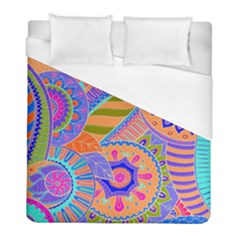Pop Art Paisley Flowers Ornaments Multicolored 3 Duvet Cover (full/ Double Size) by EDDArt