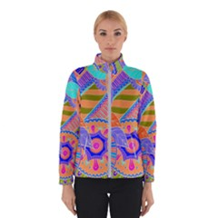 Pop Art Paisley Flowers Ornaments Multicolored 3 Winterwear