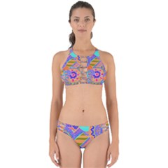 Pop Art Paisley Flowers Ornaments Multicolored 3 Perfectly Cut Out Bikini Set