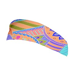 Pop Art Paisley Flowers Ornaments Multicolored 3 Stretchable Headband by EDDArt