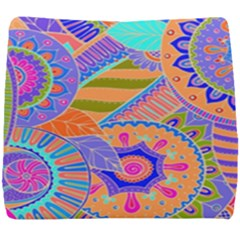 Pop Art Paisley Flowers Ornaments Multicolored 3 Seat Cushion by EDDArt