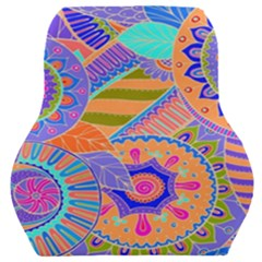 Pop Art Paisley Flowers Ornaments Multicolored 3 Car Seat Back Cushion  by EDDArt