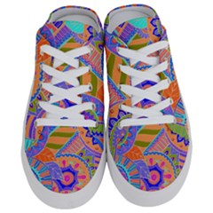 Pop Art Paisley Flowers Ornaments Multicolored 3 Half Slippers