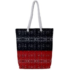 Red And Black Lace In Layers Created By Flipstylez Designs Full Print Rope Handle Tote (small)