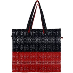 Red And Black Lace In Layers Created By Flipstylez Designs Canvas Travel Bag by flipstylezdes