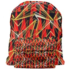 Red Triangles Zig Zags Many Layers Created By Flipstylezdesigns Giant Full Print Backpack by flipstylezdes