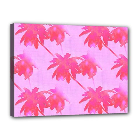 Palm Trees Pink Paradise Canvas 16  X 12  by CrypticFragmentsColors