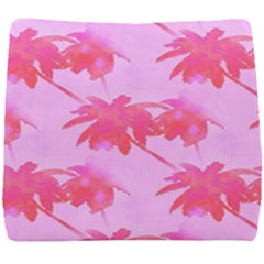 Palm Trees Pink Paradise Seat Cushion by CrypticFragmentsColors