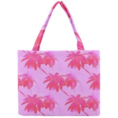 Palm Trees Pink Paradise Mini Tote Bag by CrypticFragmentsColors