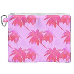 Palm Trees Pink Paradise Canvas Cosmetic Bag (xxl) by CrypticFragmentsColors