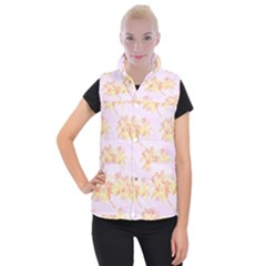 Palm Trees Tropical Summer Heat Women s Button Up Vest