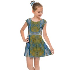 Cosmic Waters Warp Kids Cap Sleeve Dress