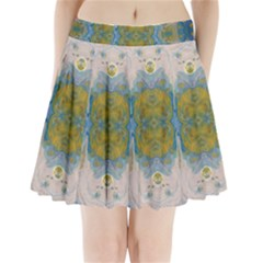 Cosmic Waters Warp Pleated Mini Skirt by lwdstudio
