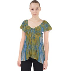 Cosmic Waters Warp Lace Front Dolly Top