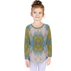 Cosmic Waters Warp Kids  Long Sleeve Tee