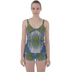 Cosmic Waters Warp Tie Front Two Piece Tankini