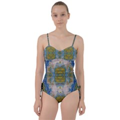Cosmic Waters Warp Sweetheart Tankini Set