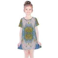 Cosmic Waters Warp Kids  Simple Cotton Dress