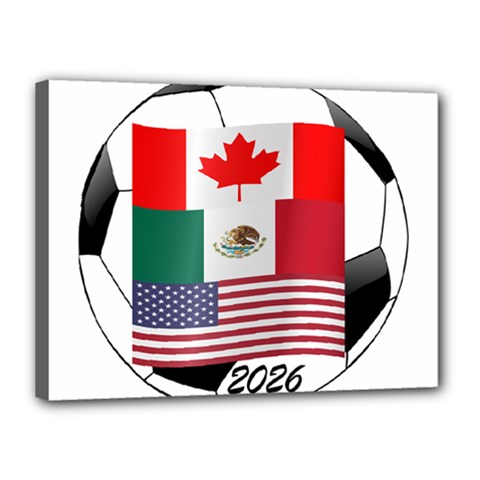 United Football Championship Hosting 2026 Soccer Ball Logo Canada Mexico Usa Canvas 16  X 12  by yoursparklingshop