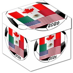 United Football Championship Hosting 2026 Soccer Ball Logo Canada Mexico Usa Storage Stool 12   by yoursparklingshop