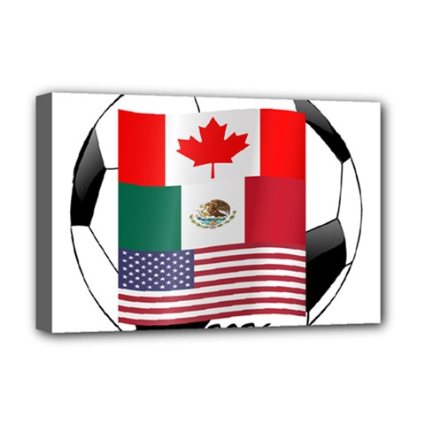 United Football Championship Hosting 2026 Soccer Ball Logo Canada Mexico Usa Deluxe Canvas 18  X 12   by yoursparklingshop