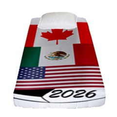 United Football Championship Hosting 2026 Soccer Ball Logo Canada Mexico Usa Fitted Sheet (single Size) by yoursparklingshop