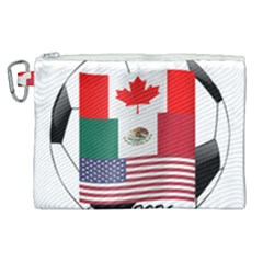 United Football Championship Hosting 2026 Soccer Ball Logo Canada Mexico Usa Canvas Cosmetic Bag (xl) by yoursparklingshop