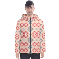 Tribal Shapes                                          Men s Hooded Puffer Jacket