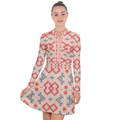 Tribal Shapes                                             Long Sleeve Panel Dress