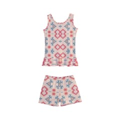 Tribal Shapes                                    Kid s Boyleg Swimsuit