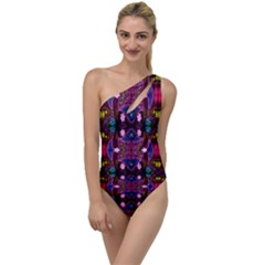 New Damasks Peacock Design Created By Flipstylez Designs To One Side Swimsuit