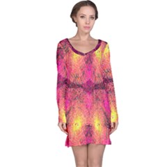 New Wild Color Blast Purple And Pink Explosion Created By Flipstylez Designs Long Sleeve Nightdress