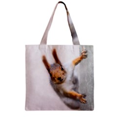 Curious Squirrel Grocery Tote Bag by FunnyCow