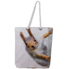 Curious Squirrel Full Print Rope Handle Tote (large) by FunnyCow