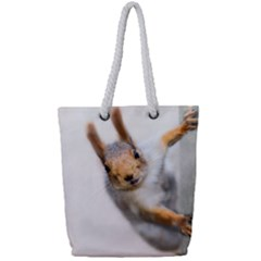 Curious Squirrel Full Print Rope Handle Tote (small) by FunnyCow