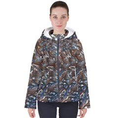 Melted Metal                                       Women s Hooded Puffer Jacket