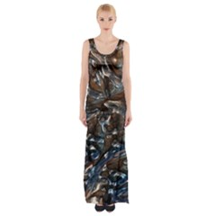 Melted Metal                                        Maxi Thigh Split Dress by LalyLauraFLM