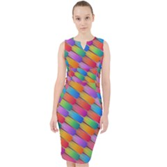 Colorful Textured Shapes Pattern                                        Midi Bodycon Dress