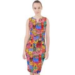 Coloful Strokes Canvas                                      Midi Bodycon Dress by LalyLauraFLM