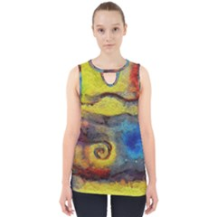 Painted Swirls                                    Cut Out Tank Top by LalyLauraFLM