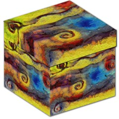 Painted Swirls                                    Storage Stool by LalyLauraFLM