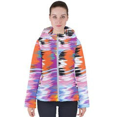 Waves                                   Women s Hooded Puffer Jacket by LalyLauraFLM
