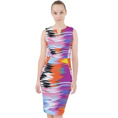 Waves                                      Midi Bodycon Dress by LalyLauraFLM