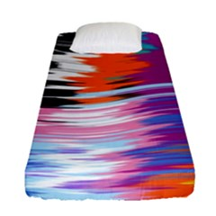 Waves                                   Fitted Sheet (single Size) by LalyLauraFLM