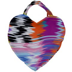 Waves                               Giant Heart Shaped Tote by LalyLauraFLM