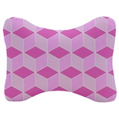 Series In Pink F Velour Seat Head Rest Cushion